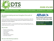 Tablet Preview of dtsairpressuretesting-dorset.co.uk